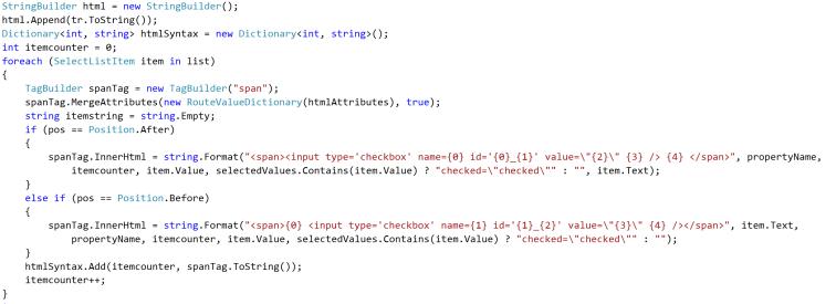 build html